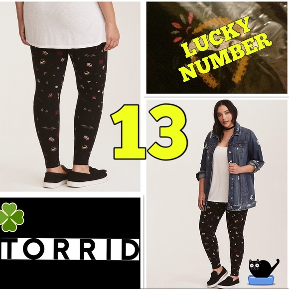 2c0fc061b61ce torrid Pants | Lucky 7 13 Tattoo Leggings New With Tags | Poshmark